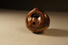 Snail on Chestnut netsuke 2016